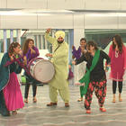 Sidhu Performing A Bhangra Dance With Girls In Bigg Boss House