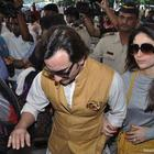 Saif Ali Khan And Kareena Kapoor Leave For Pataudi