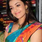 Kajal Agarwal Exclusive Photos At Kalanikethan Show Room Launch