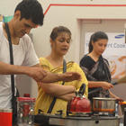 Niketan,Sana And Urvashi In The Kitchen At Bigg Boss House 6