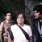 Amitabh,Shashi And Nirupa A Still From Deewar