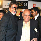 Yash Chopra And Amitabh Bachchan During The Premiere Of Paa