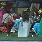 All Contestants Are In The Garden On Bigg Boss House