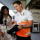 Chitrangda Singh At The Sahara Force India Pit Garage At The Abu Dhabi Grand Prix