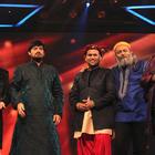 Ajay And Sonakshi On The Set Of Sa Re Ga Ma Pa 2012