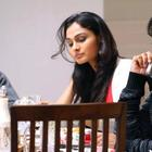 Kamal,Shekhar And Andrea Photo Still In Dinner Table From Movie Vishwaroop