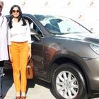 Sridevi And Boney Kapoor Photos With Porsche Car