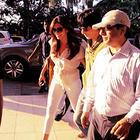 Deepika And Shaharukh At Mumbai Airport To Leave For IFFI 2012