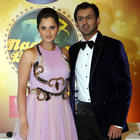 Sania Mirza And Shoaib Malik At Nach Baliye 5 Press Meet