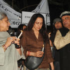 Jaya,Hema,Sonu And Javed Photo Clicked During Candle Light Rally