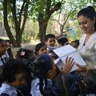 Kajol on a Film Shoot With Pratham Primary School Children