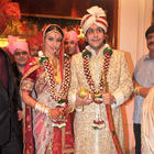 Celebs at the Bappa Lahiri and Tanisha Verma Wedding Function