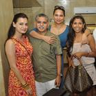 Dia Mirza and Lara Dutta Spotted at Indigo Deli in Bandra