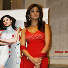 Shilpa Shetty Red Dress Sizzling Wallpaper