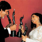 Amitabh Bachchan And Rani Mukherjee Smiling Pics