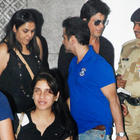 B Town Star Sanjay Kapur and Shahrukh at Mumbai International Airport