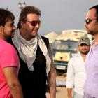 Sanjay,Ajay Devgan And Director Rohit Shetty On Sets Of All The Best In Goa