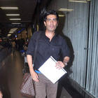 Karan Johar and Manish Malhotra Jet Out To London