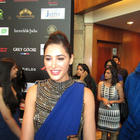 Nargis Fakhri In Blue Saree at IIFA Rocks Fashion Show Event