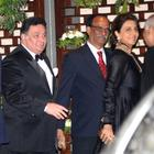 Rishi With Wife Neetu Smiling Still At Nita And Mukesh Ambanis Annual Bash At Antilla Saw