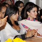 Ekta Kapoor And Sunny Leone At Siddhivinayak Temple