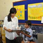 Freida Pinto Meets Mumbai Slum Kids