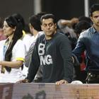 Salman Khan Watches Kerala Strikers Vs Mumbai Heroes Match