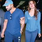 Saif Ali With Wife Kareena Photo Clicked At Airport In Blue Dress