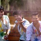 Sidharth,Sushant And Varun Celebrate Holi
