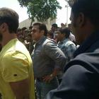 Salman Khan On Location Of Mental At Sanjay Ghodawat College