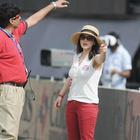 Preity Zinta Nice Look At KXIP Vs KKR Match IPL 2013