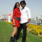 Santosh And Sarayu In Park Movie Photos