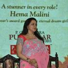 Hema Malini Nice Look In Saree At 21st P.C. Chandra Purashkaar Award Ceremony