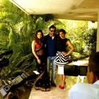 Sunny,John And Sophie Poses For The Shutterbugs In Shootout At Wadala In Ahmedabad Promotions