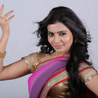 Samantha Ruth Prabhu Hot Violet Saree Photo Shoot Stills