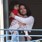 Aishwarya And Aaradhya Snapped On Hotel Balcony