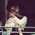 Aishwarya Rai With Her Cute Baby Aaradhya At Hotel Balcony