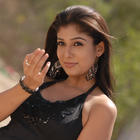 Telugu Actress Nayanthara Hot In Black Dress Photo Stills