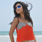 Telugu Actress Pamela Shoots On Sea Beach Latest Stills