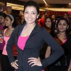 Kajal Aggarwal And Nisha Aggarwal At Zumba Fitness Event