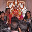 Vidya Balan At Siddhivinayak Temple In Mumbai