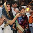 Priyanka Chopra Spotted At Andheri Cha Raja Ganpati Mahotsav 2013