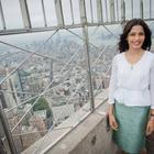 Freida Pinto Lights The Empire State Building
