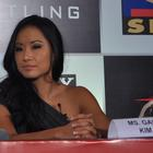 Gail Kim And Kurt Angle Attend Press Conference For Sony Six And TNA