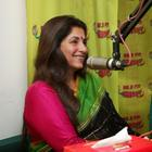 Actress Dimple Kapadia At Radio Mirchi Studio 98.3 FM