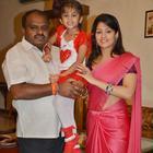 Radhika Kumarswamy And Husband H. D. Kumaraswamy At Daughter Birthday Celebration
