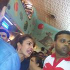 Priyanka,Ranveer And Arjun At Gaiety Theatre For Gunday Promotion