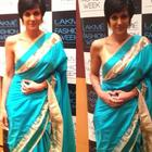 Mandira Bedi In Saree At Lakme Fashion Week 2014 Event
