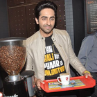 Ayushmann And Sonam Promote Bewakoofiyaan At Cafe Coffee Day