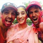 Hrithik Roshan Celebrates Holi With Children And Friends